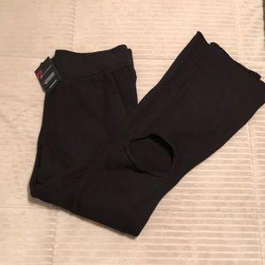 N:Philanthropy Black Sweatpants W/Hole Knee NWT